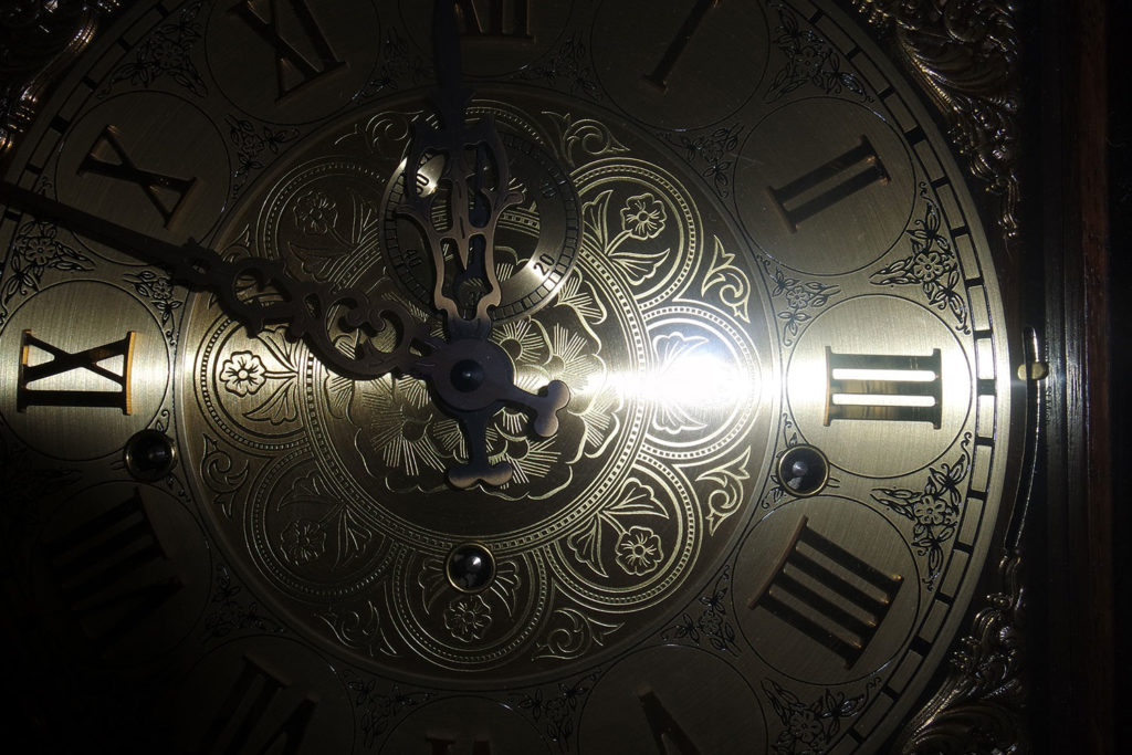 Grandfather clock face - high quality clock repair in Palm Coast and Flagler County Florida